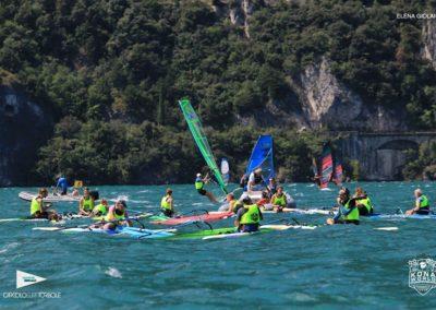 The team chills between races in Garda
